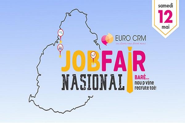 Le job fair 'nasional' d'EURO CRM aura lieu le 12 mai. L'équipe sera présente dans 3 régions différentes, l'occasion de rencontrer plus de demandeurs d'emplois.